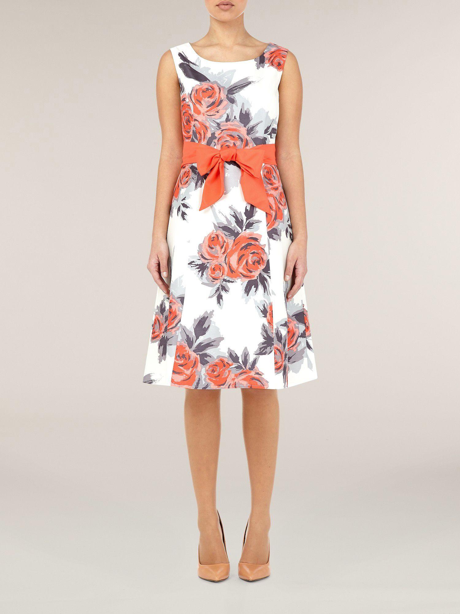 Precis petite Coral Floral Print Dress | Lyst