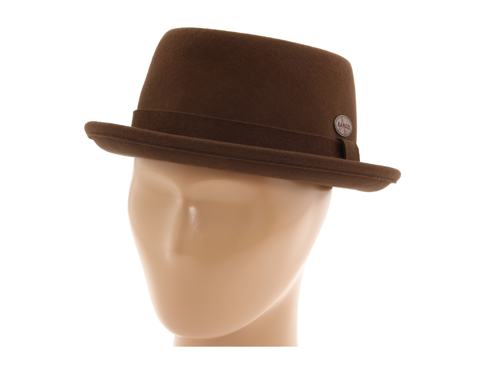 Lyst - Kangol Lite Felt Pork Pie in Brown for Men 619b02594a12