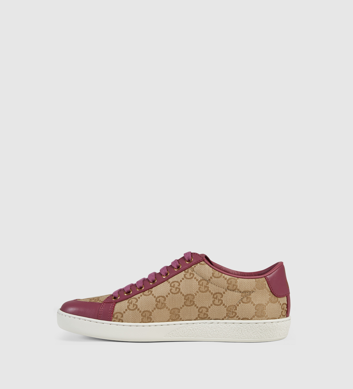 c5a50a8bd50 Gucci Brooklyn Original Gg Canvas Lace-up Sneaker in Natural - Lyst