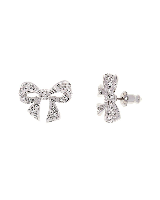 001f51927 Ted Baker Pepe Pavé Crystal Bow Earrings in Metallic - Lyst