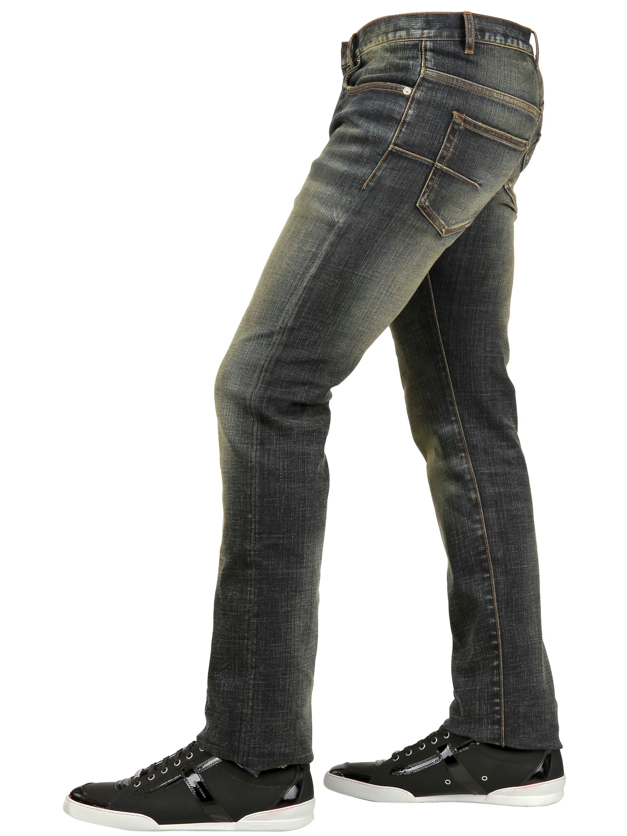 Dior homme blue waxed jeans