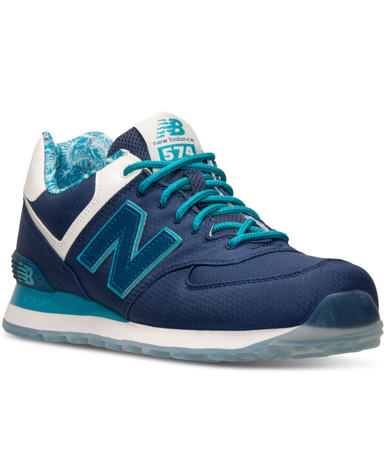lyst new balance mens 574 luau casual sneakers from finish line