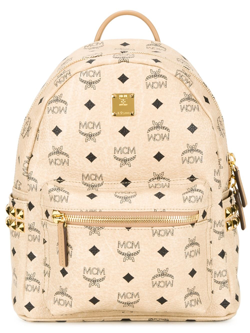 Mcm Small Stark Backpack In Natural Lyst