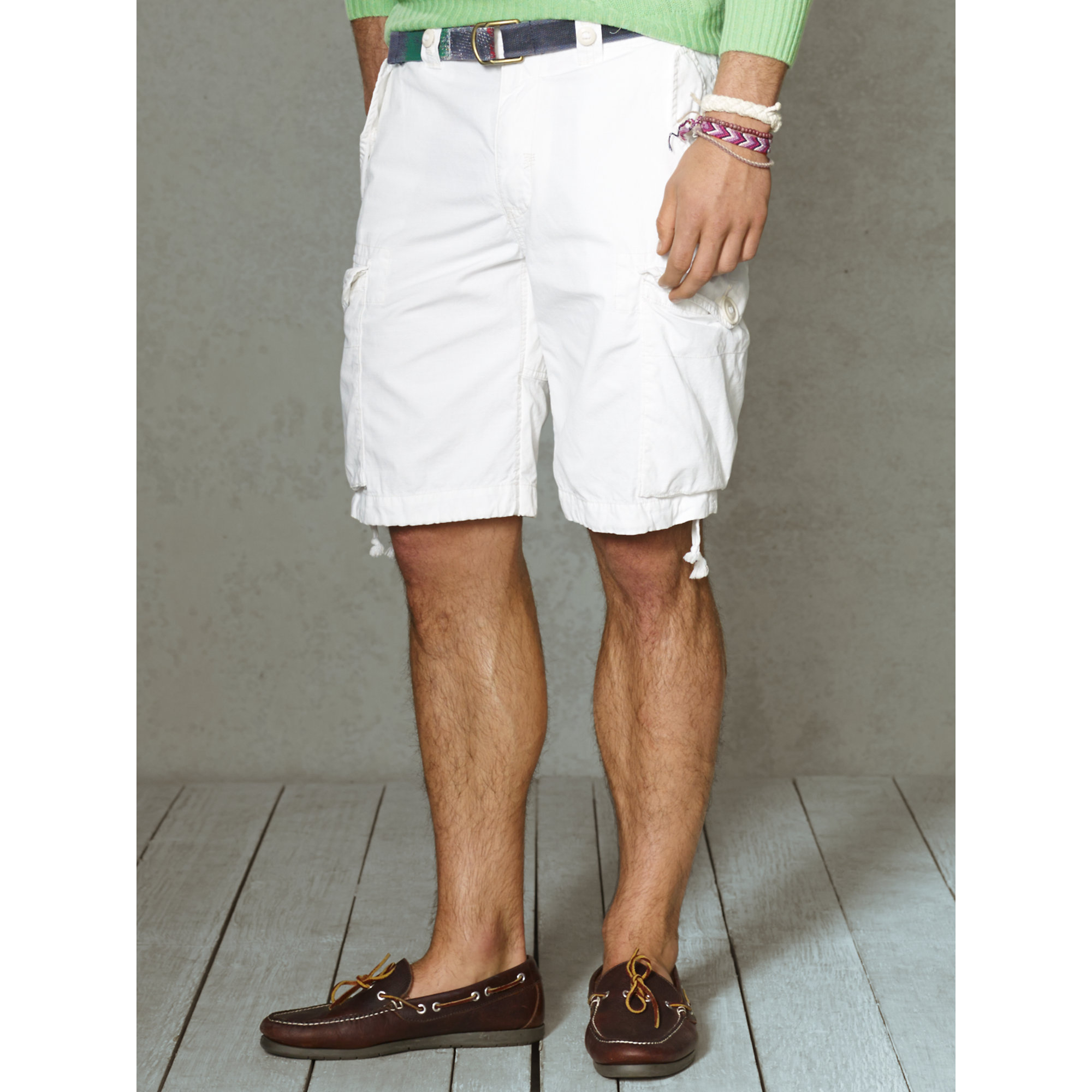 3f7a1a537f Polo Ralph Lauren Classic-Fit Cargo Short in White for Men - Lyst