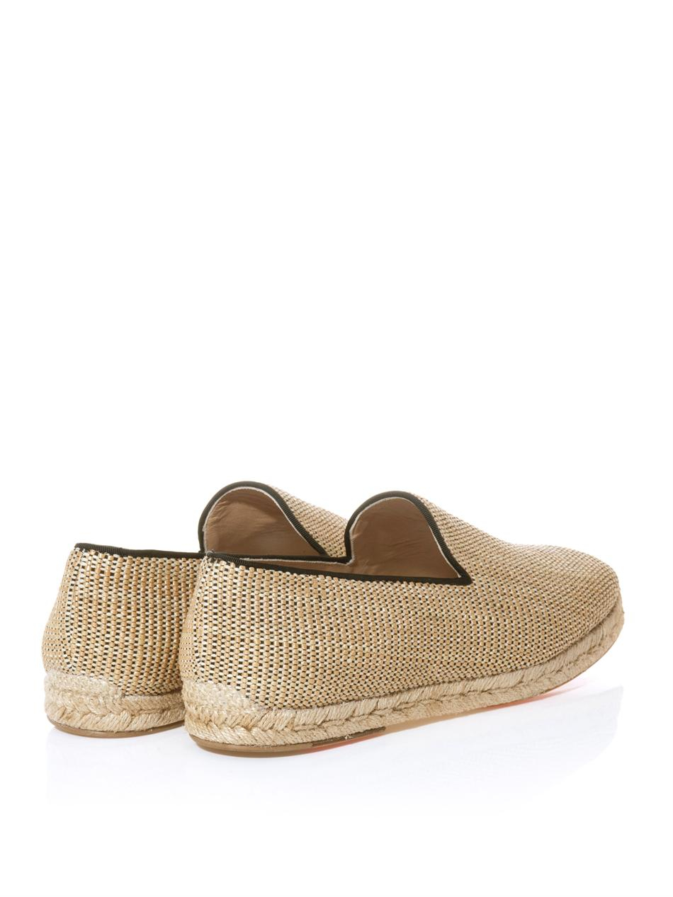 10471220ce05 Lyst - Christian Louboutin Relax Woven Raffia Espadrilles in Natural ...