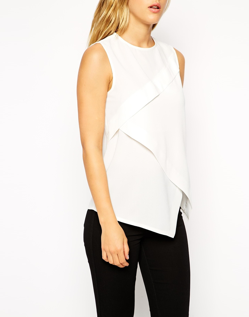 Lyst Asos Sleeveless Origami Top In Black