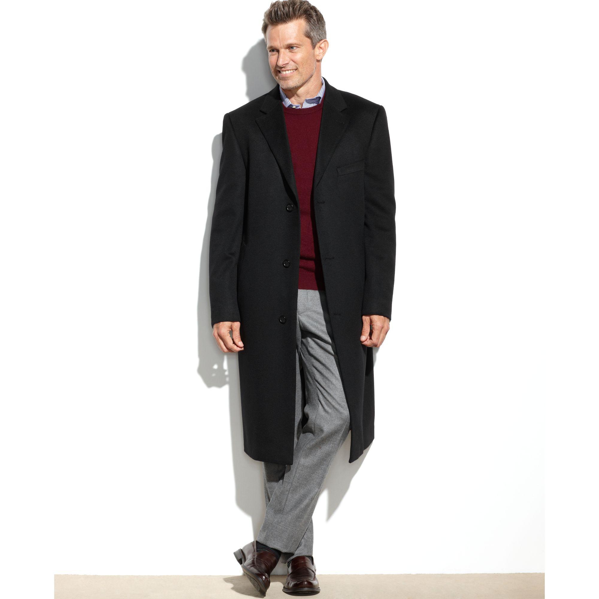 lauren by ralph lauren columbia cashmere blend overcoat in black for men lyst. Black Bedroom Furniture Sets. Home Design Ideas