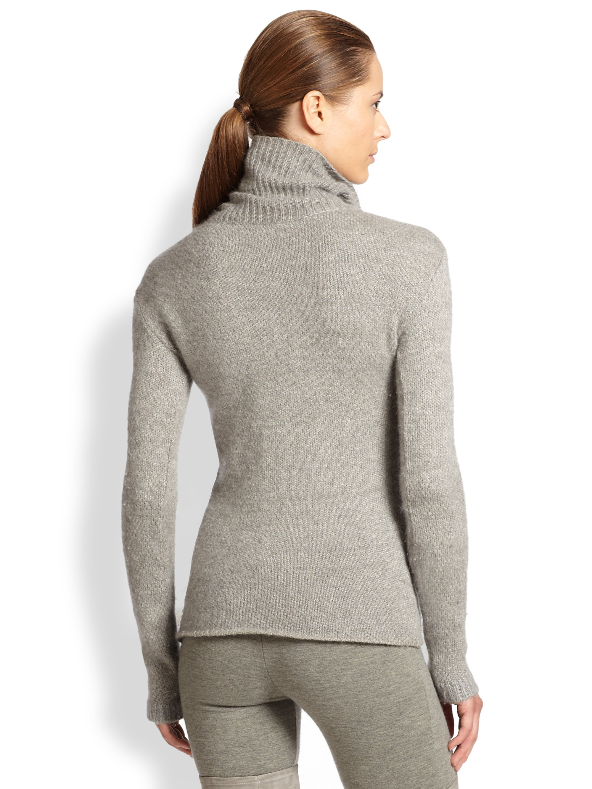 Ralph lauren collection Mossstitch Cashmere Silk Turtleneck ...