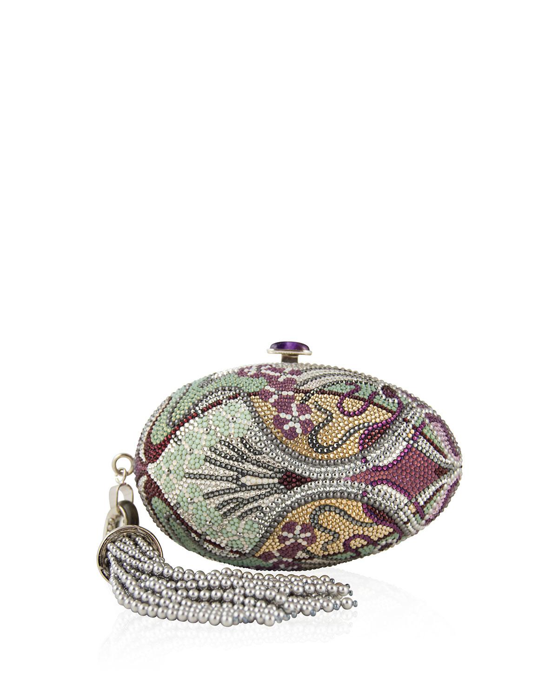 2f95f1931 Judith Leiber Amethyst-clasp Crystal Egg Clutch Bag - Lyst