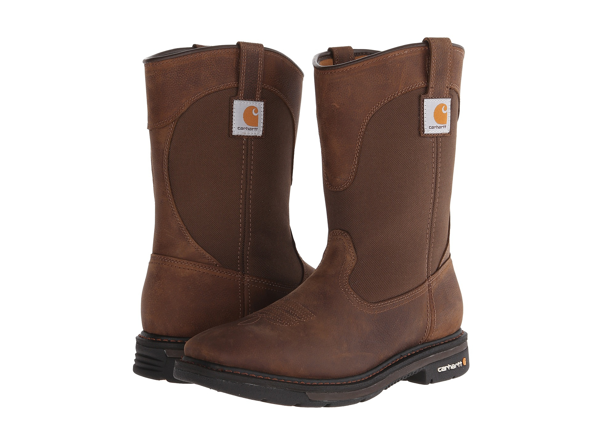 carhartt 11 quot non safety square toe wellington in brown lyst