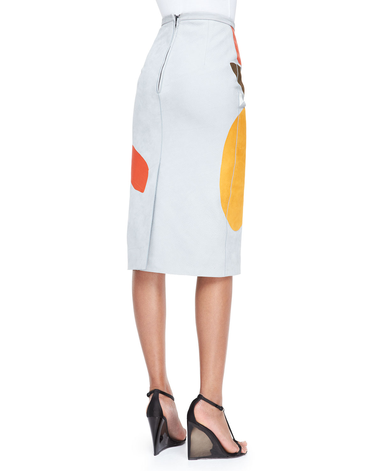Book Cover White Jeans ~ Lyst burberry prorsum book cover printed pencil skirt in