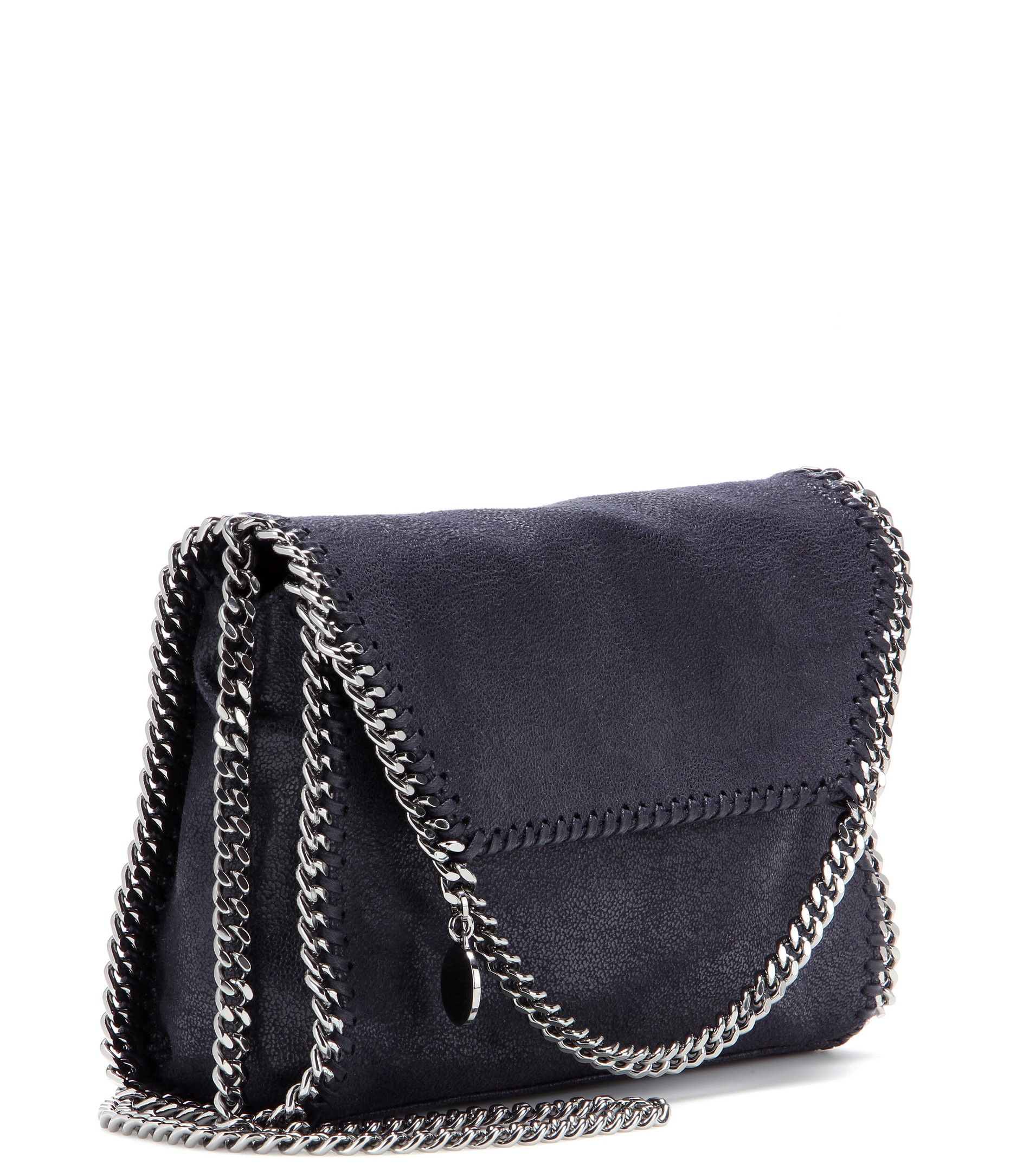 navy blue falabella mini shoulder bag Stella McCartney LyUIf