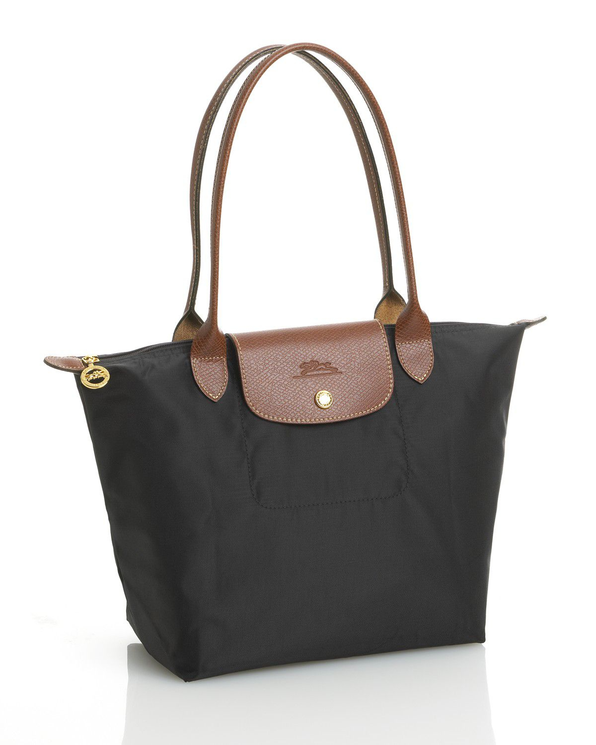 Longchamp Le Pliage Medium Shoulder Tote In Black Lyst