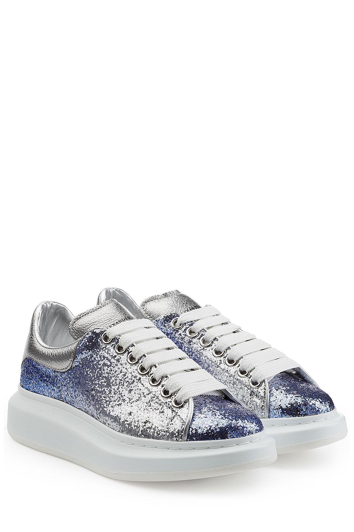 e76628d3cd6b Alexander McQueen Glitter Sneakers - Silver in Metallic - Lyst