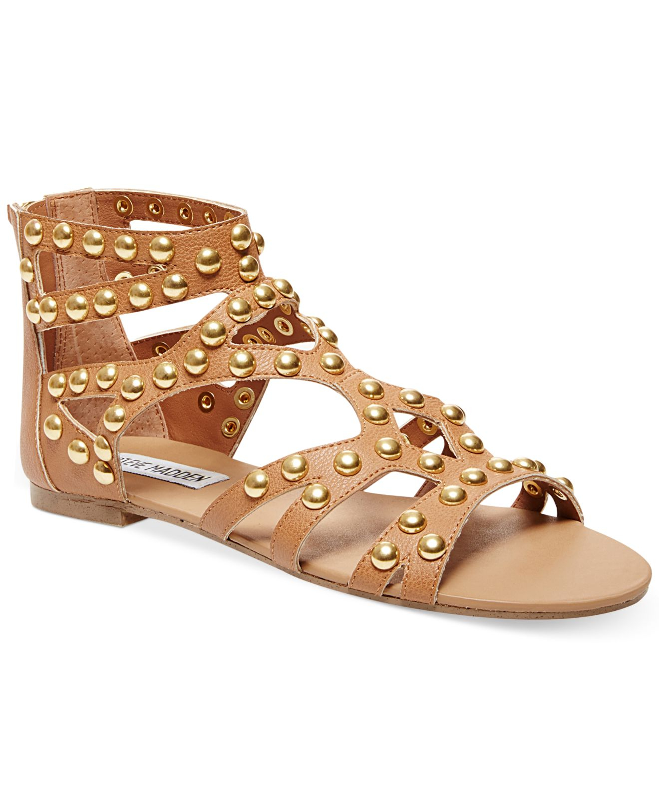 0d5a852cac6e Lyst - Steve Madden Women s Culver-s Embellished Gladiator Flat ...