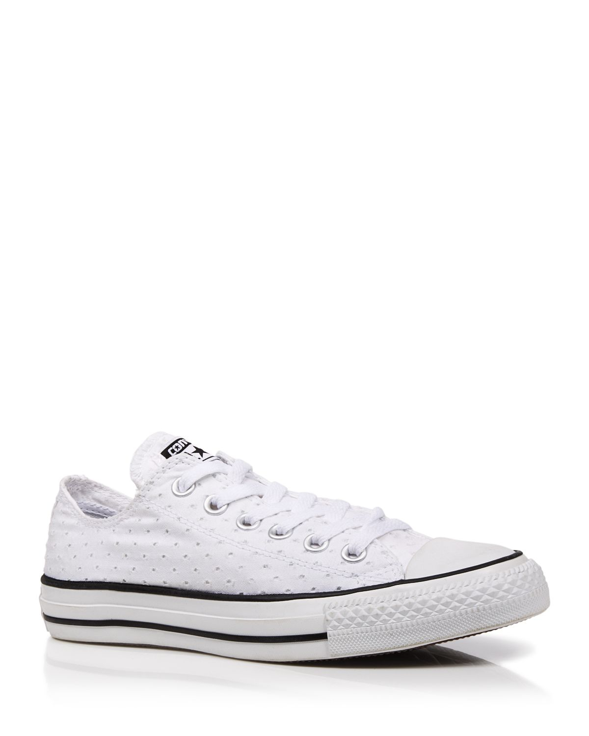 43150f37e40a Lyst - Converse Lace Up Sneakers - Eyelet Low Top in White