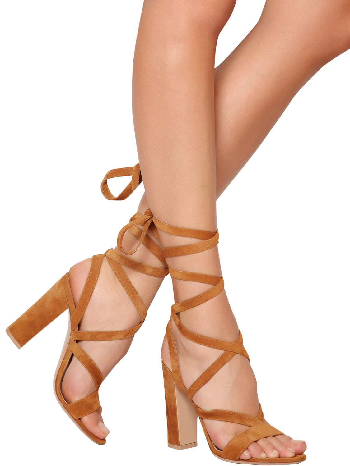 0b63c3895cf Lyst - Gianvito Rossi 100Mm Suede Lace-Up Sandals in Brown