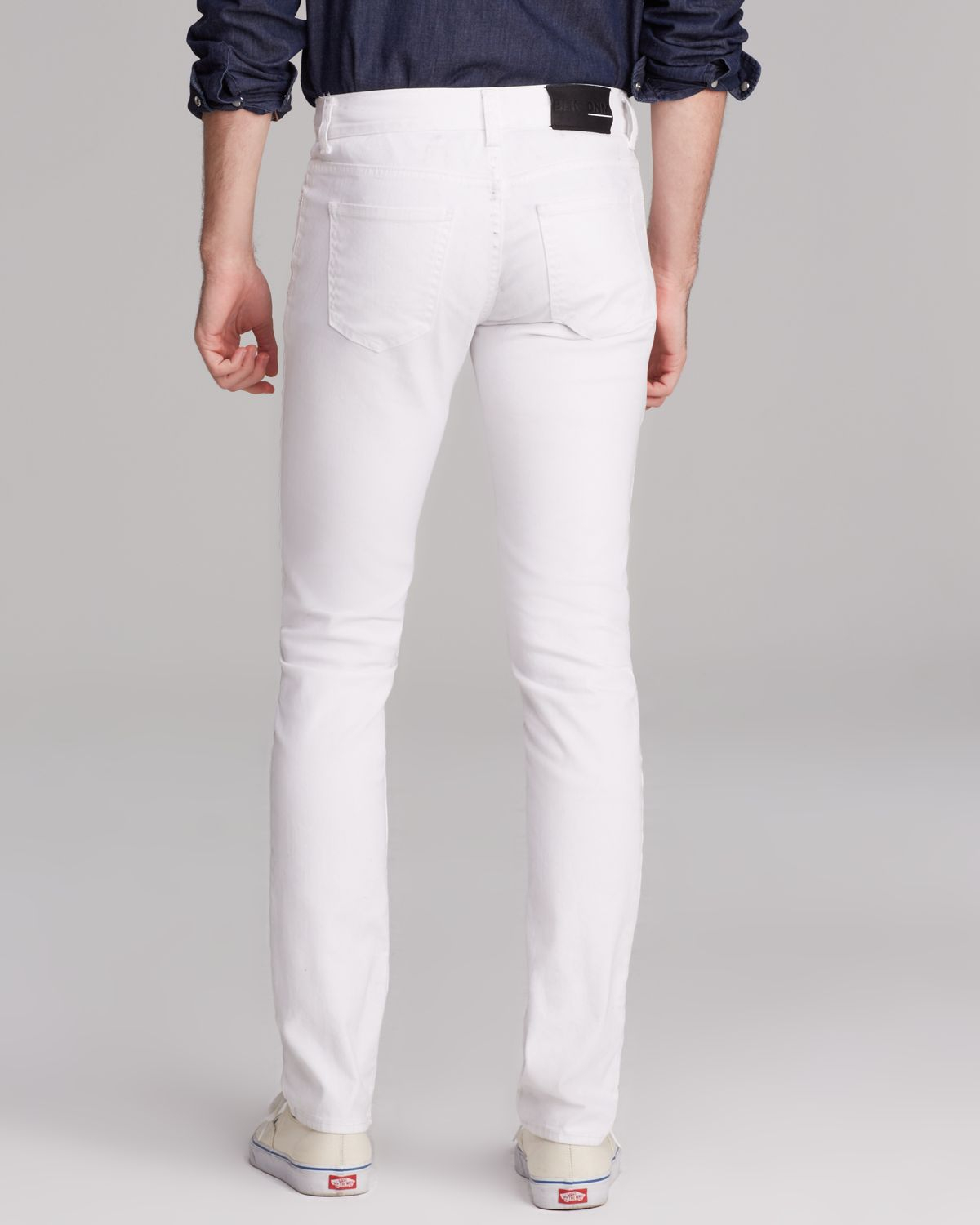 Blk dnm Jeans - Resin Coated 5 Slim Fit In Astor White in White ...