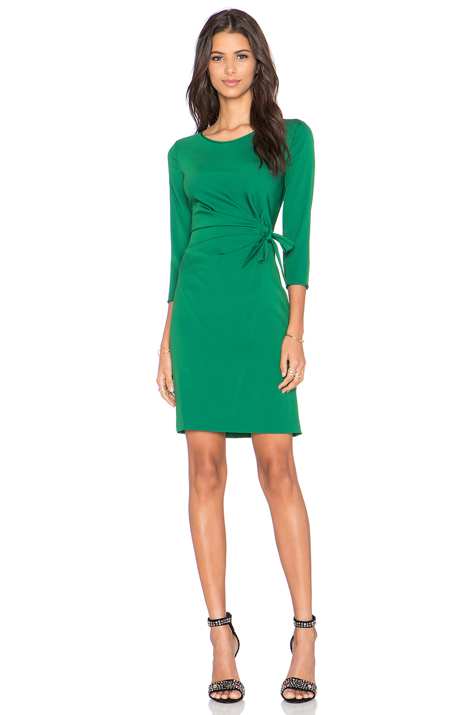 Lyst - Diane Von Furstenberg Zoe Dress in Green