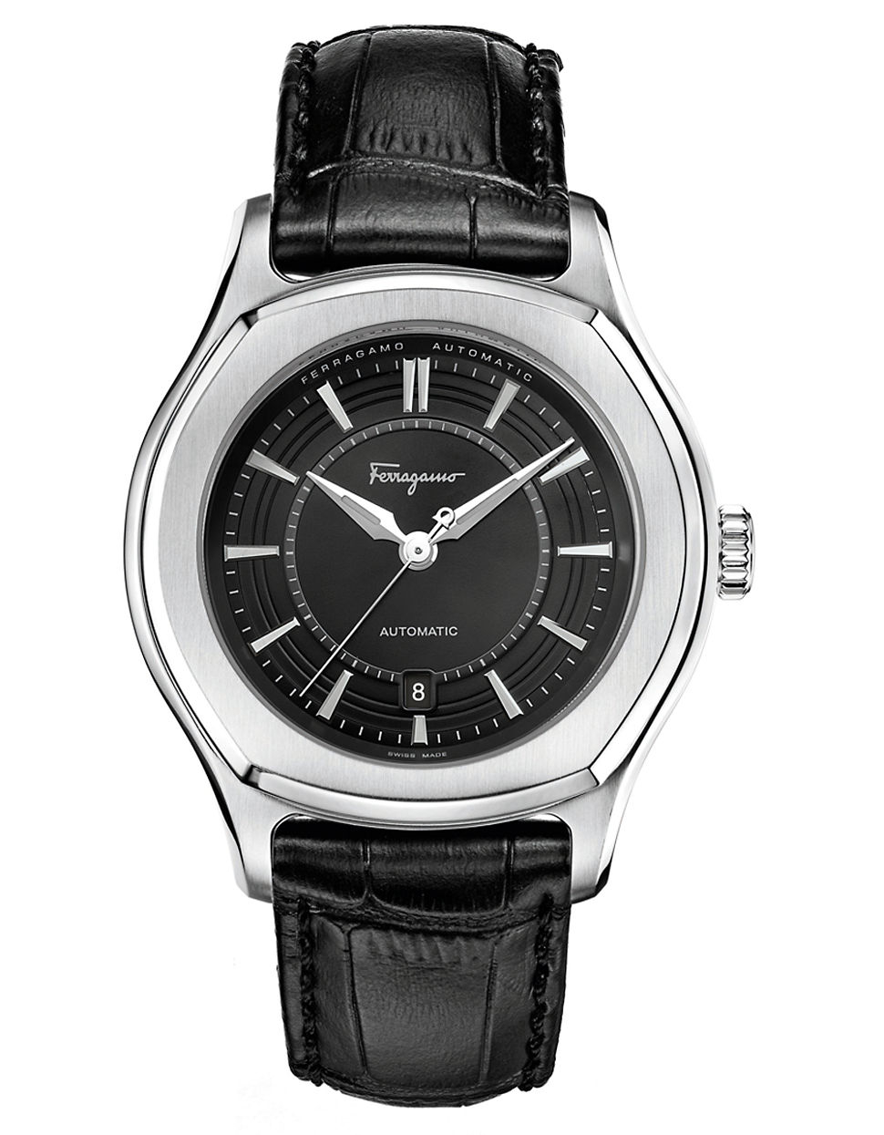 ferragamo mens stainless steel lungarno automatic in