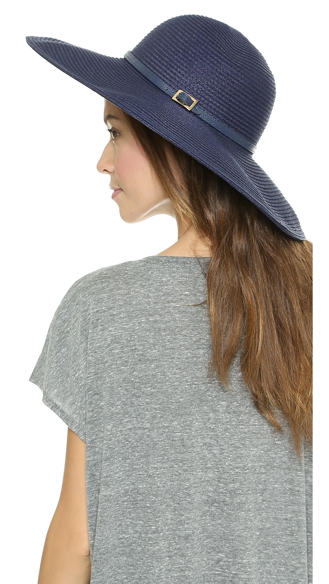 Lyst - Melissa Odabash Jemima Sun Hat - Navy in Blue b87329f03e4