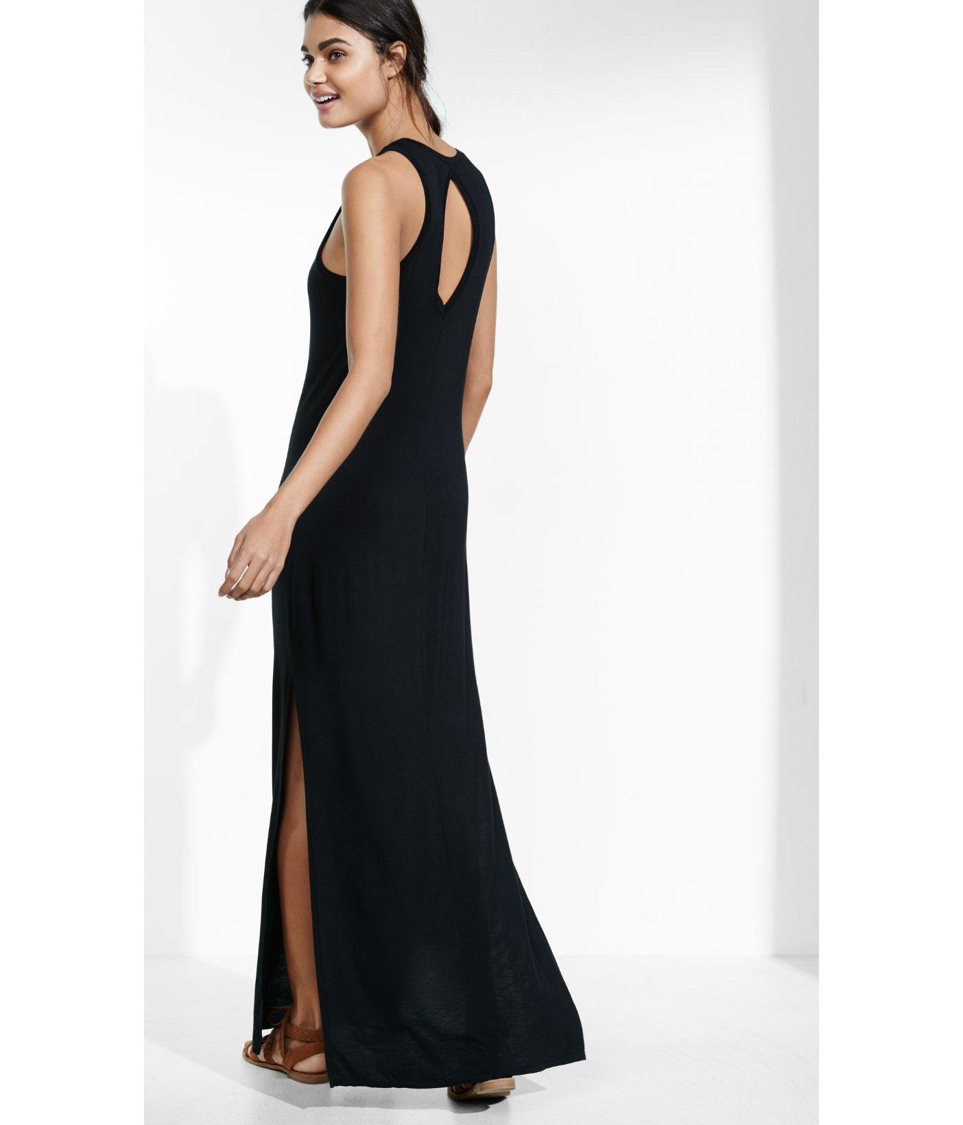 309344d3df7 Lyst - Express Keyhole Maxi Dress in Black