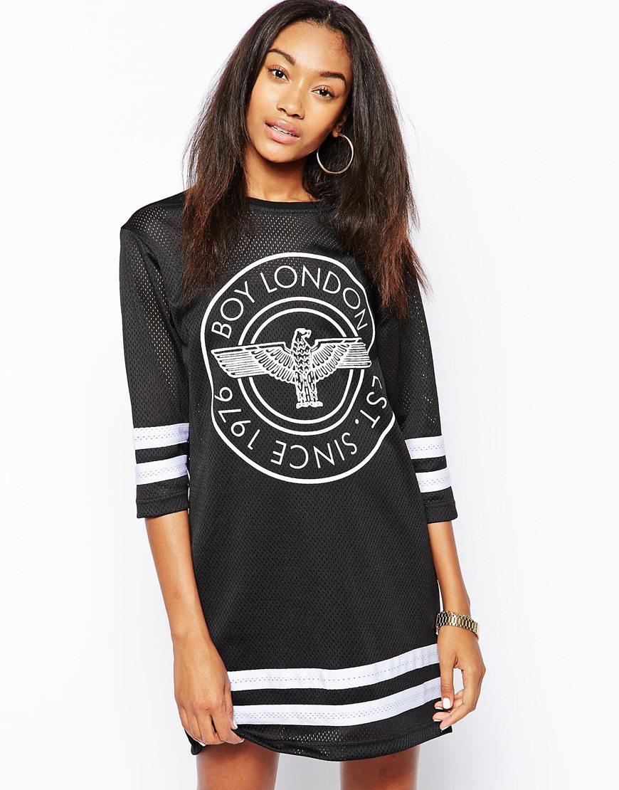 Boy London Long Sleeve Hockey Dress In Black Lyst
