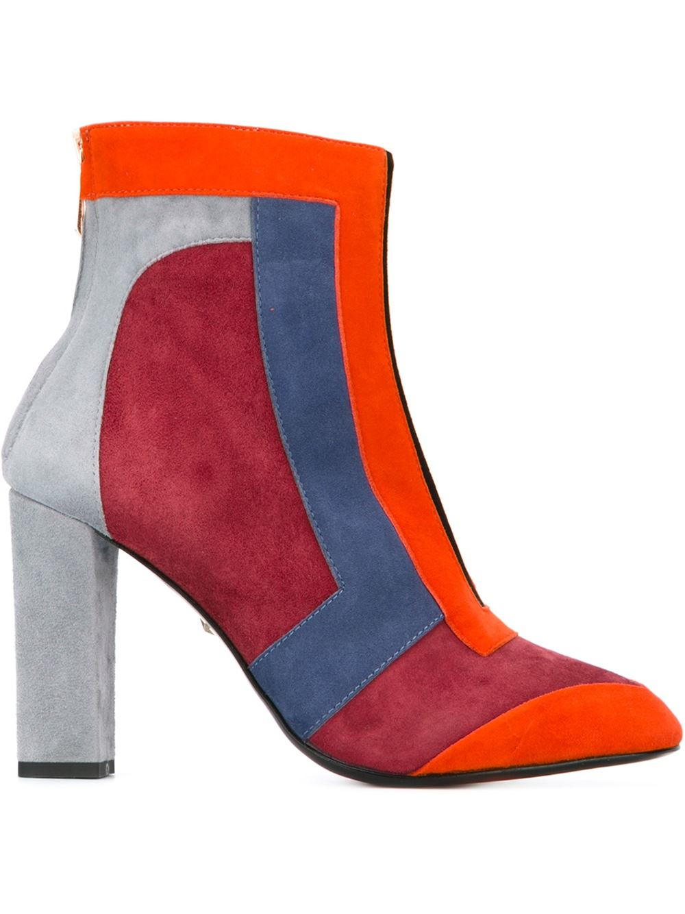 just cavalli colour block ankle boots in blue lyst
