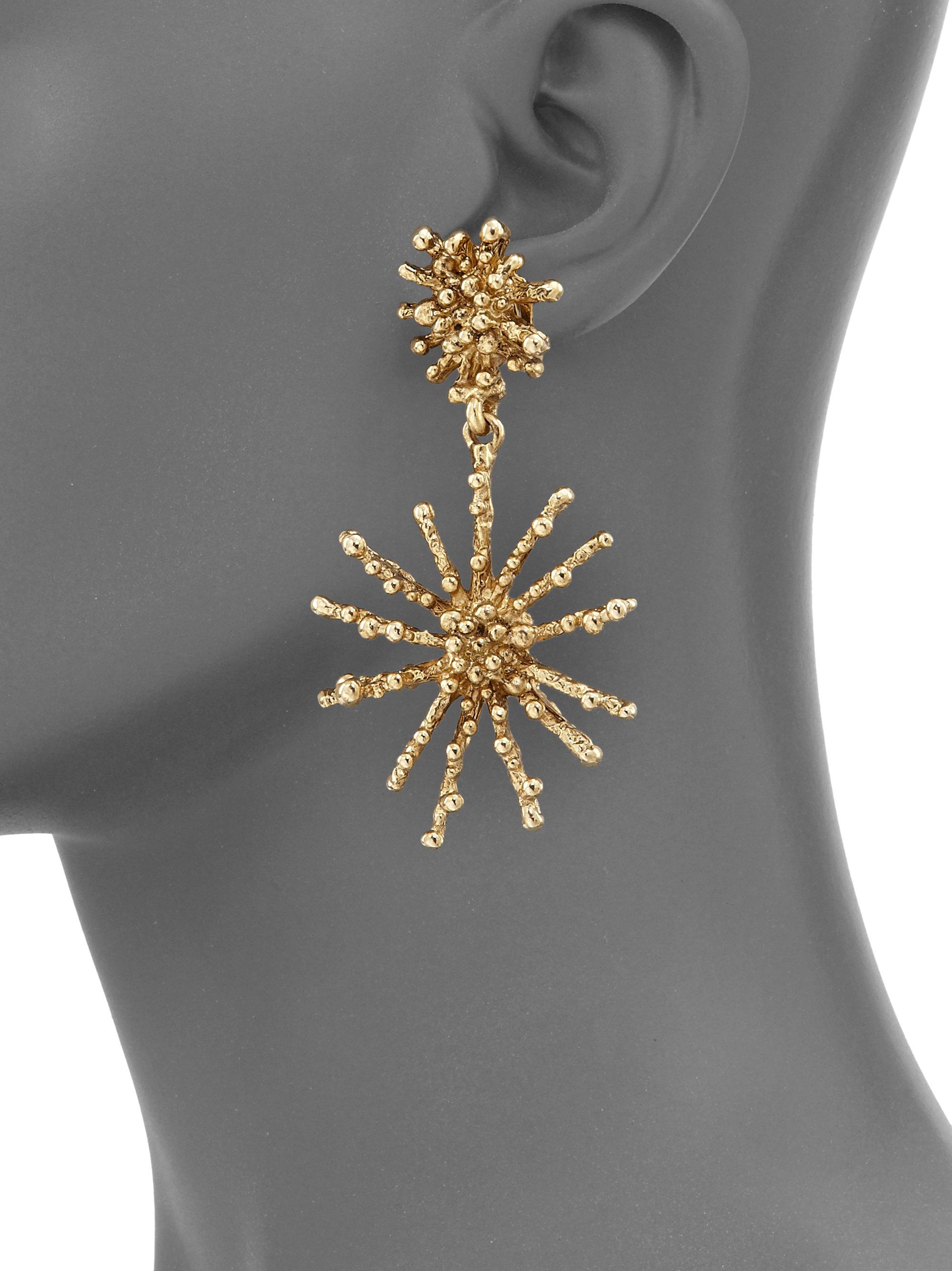 Oscar De La Renta Starfish earrings pBYoYj1K