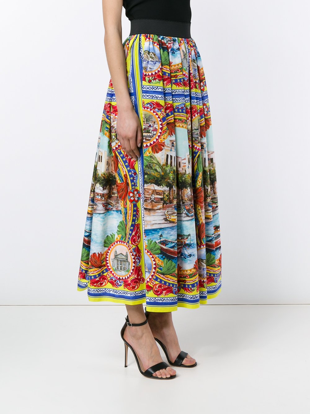 Dolceamp; Maxi Skirt Gabbana Lyst Printed Mondello 80OknwP