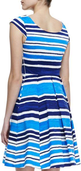 Kate Spade Mariella Fitandflare Striped Dress French