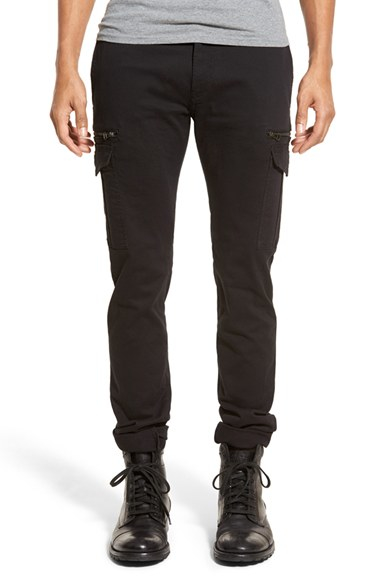 Diesel 'chi-reeves' Slim Fit Cargo Pants in Black for Men | Lyst