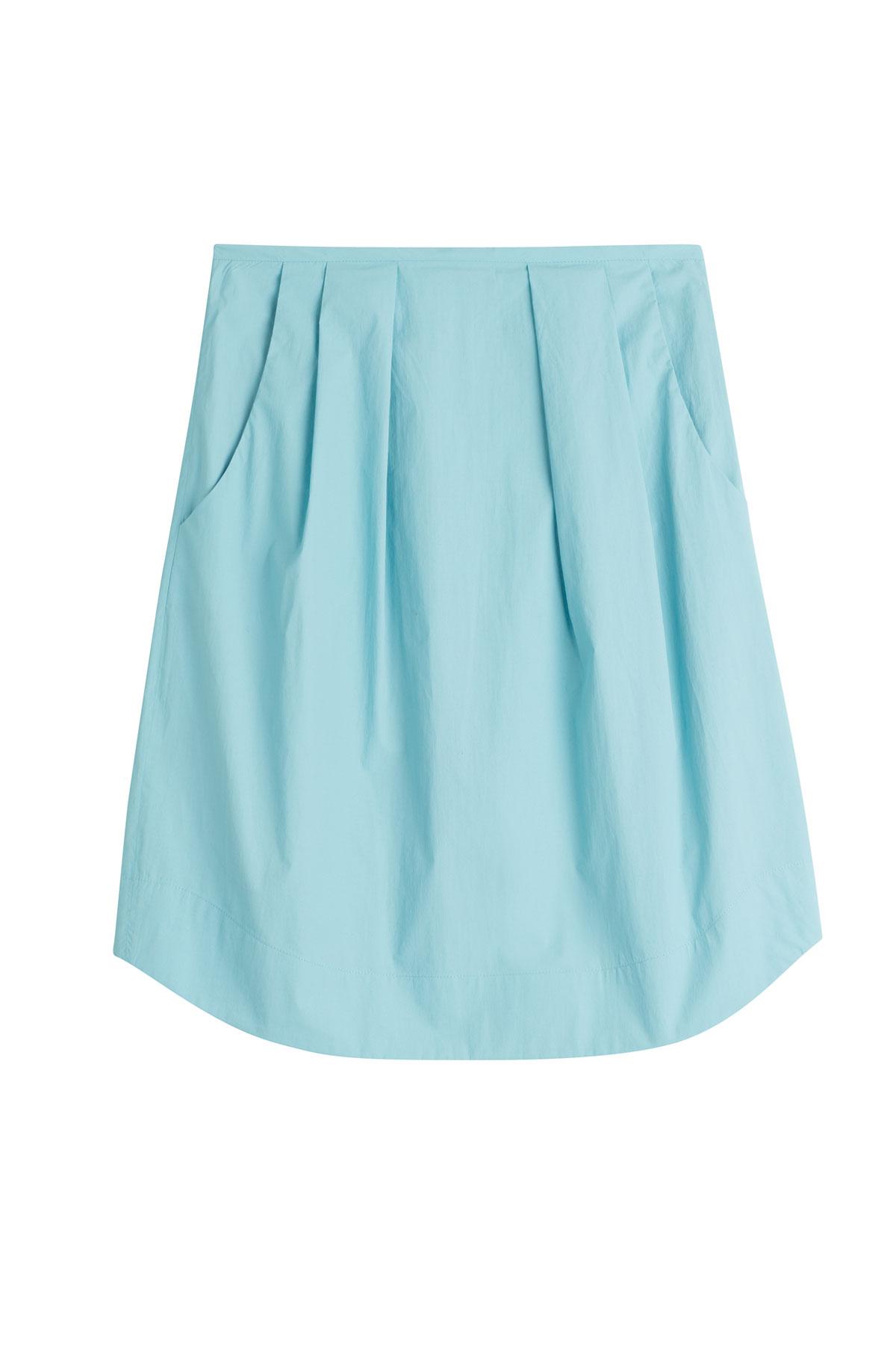 jil sander navy cotton skirt turquoise in blue lyst