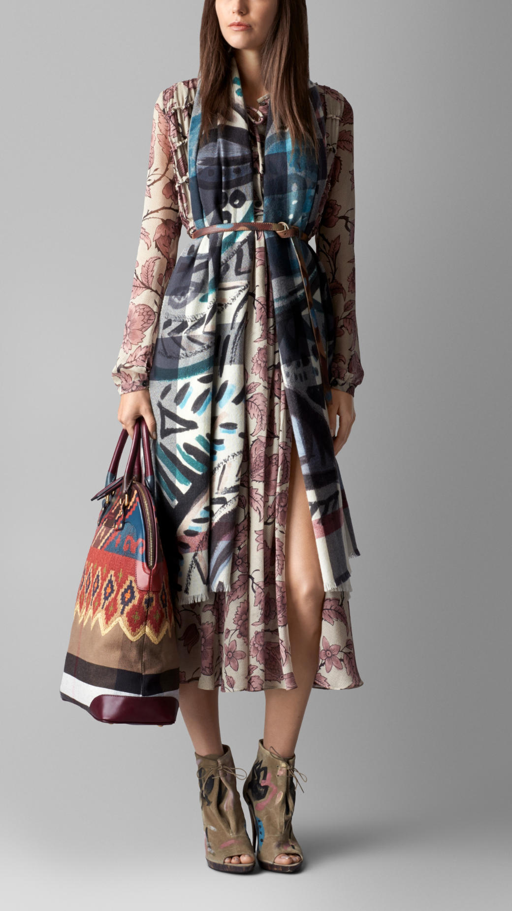 Burberry The Bloomsbury In Hand Painted Canvas Check Lyst
