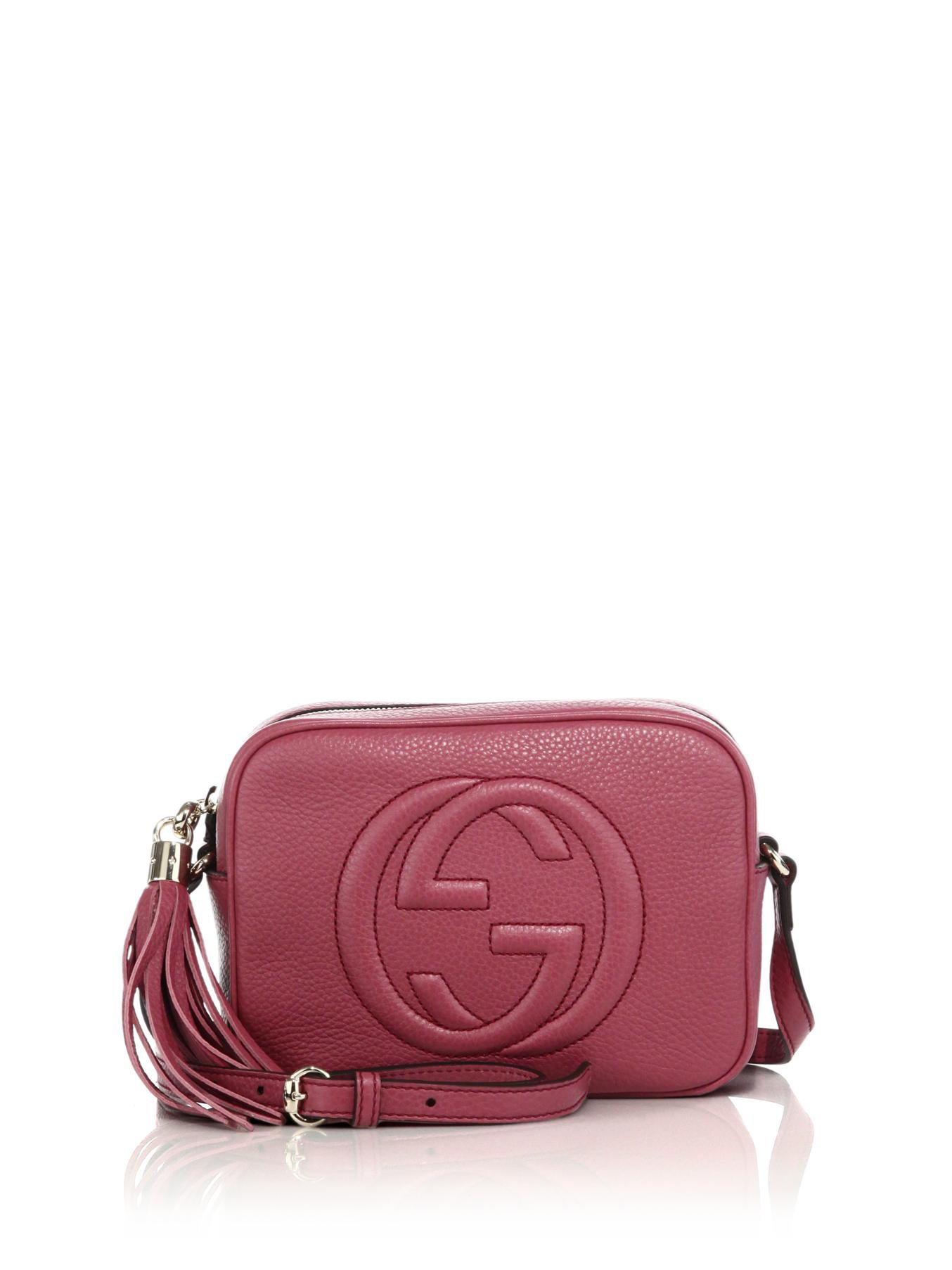53ae9d41258 Lyst - Gucci Soho Leather Disco Bag in Pink