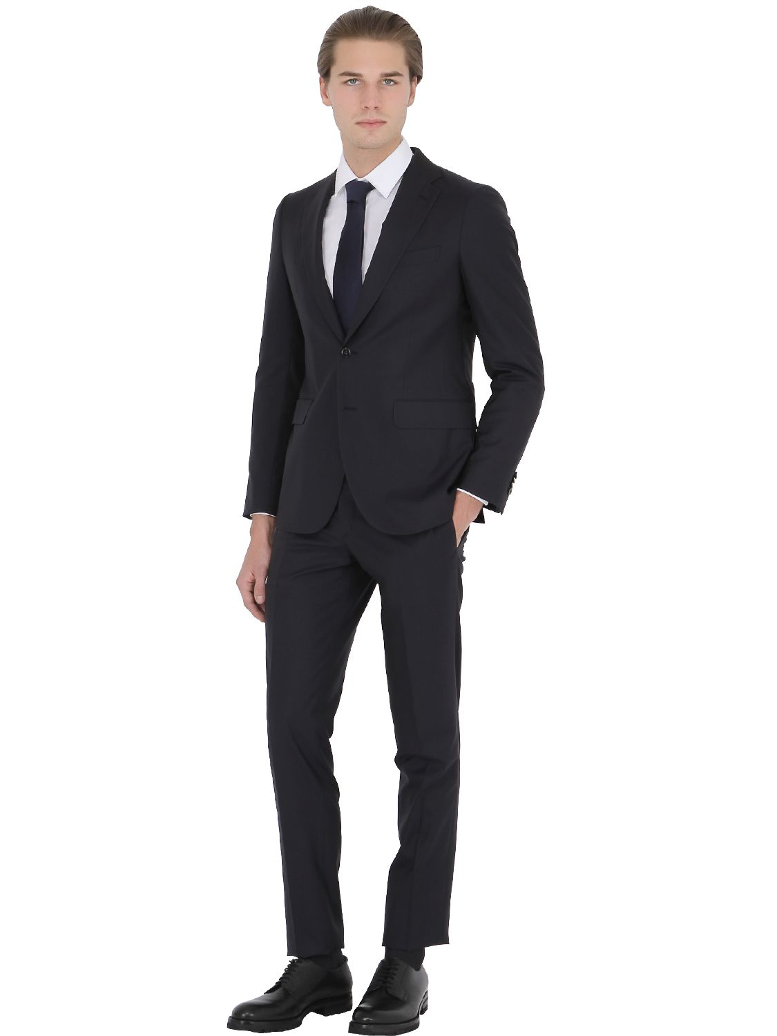 Boglioli Alton Wool & Silk Blend Suit in Black for Men | Lyst