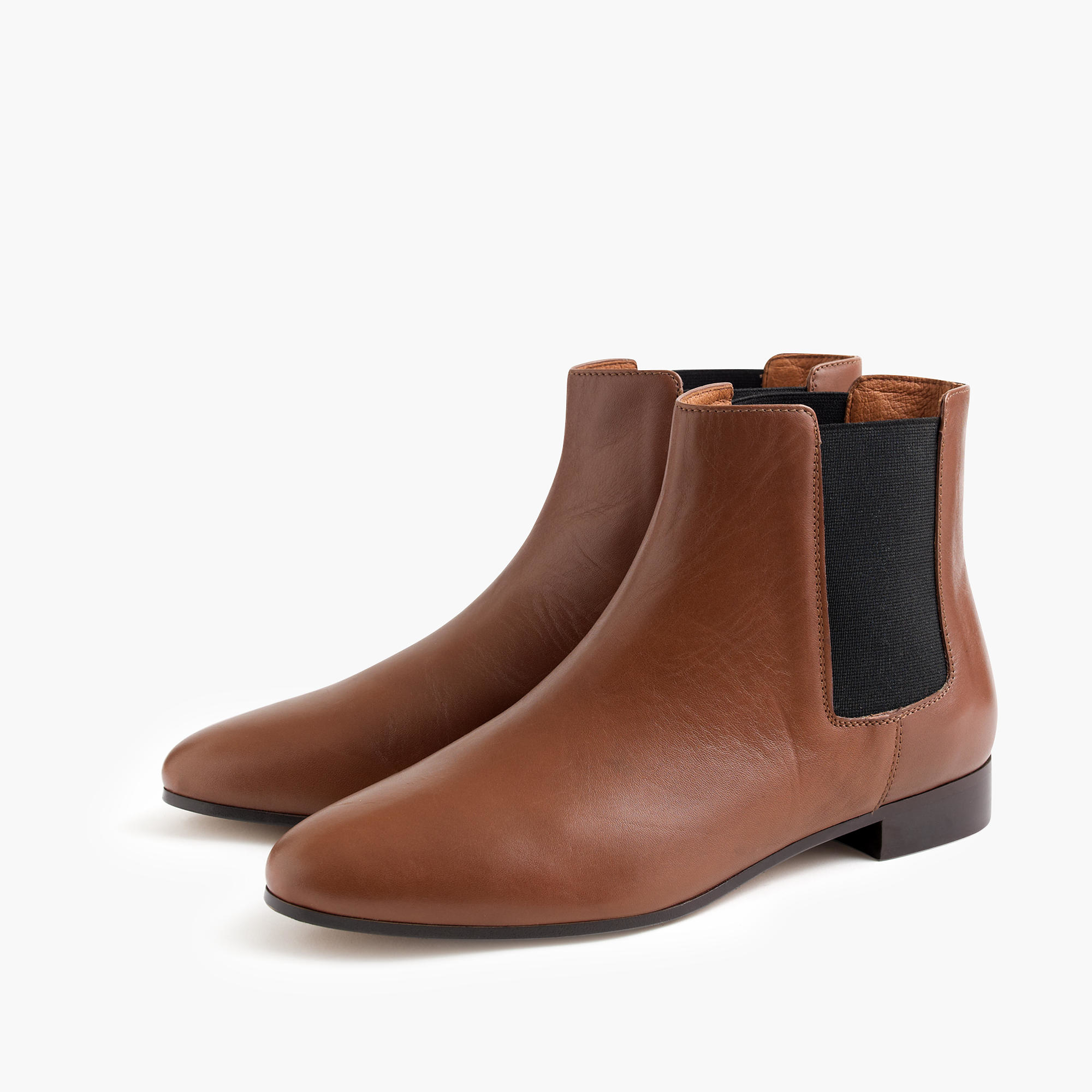 j crew chelsea boots in brown lyst