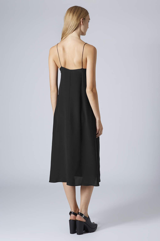 Lyst Topshop Womens Midi Swing Silk Slip Dress By