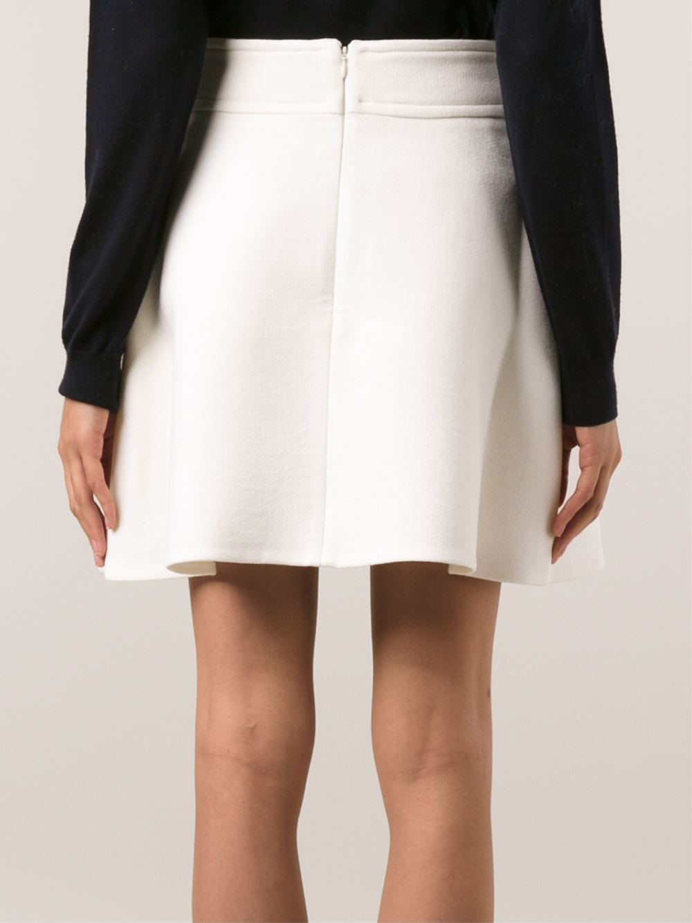 carven a line skirt in white lyst