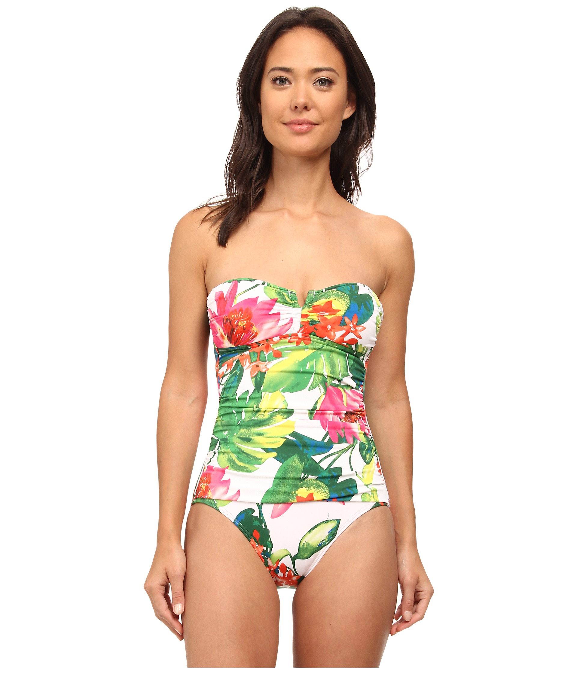 ff4acaed27 Tommy Bahama White Tropical Bandeau One-piece in White - Lyst