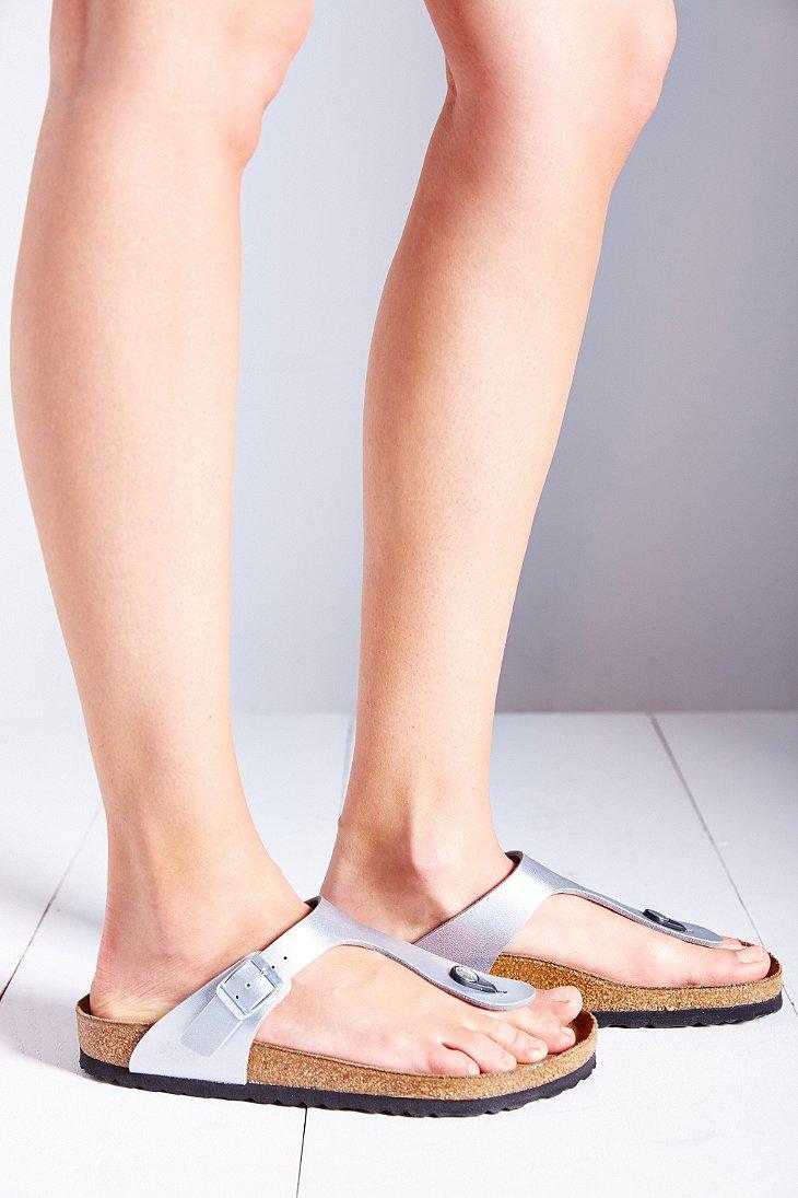 df85a3eebba7 Lyst - Birkenstock Gizeh Birko-Flor Thong Sandal in Metallic