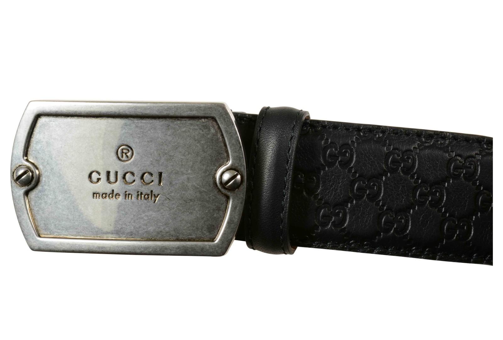Gucci Cintura Uomo Nera Moon Micro Misure L 11 In Black