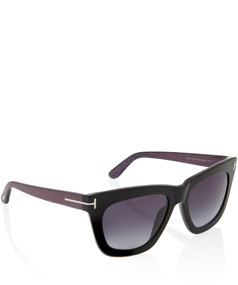 lyst tom ford black celina classic sunglasses in black. Black Bedroom Furniture Sets. Home Design Ideas
