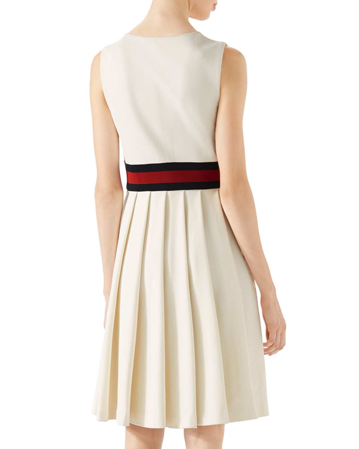 ddc4df7513e Gucci Pleated Jersey Dress in White - Lyst