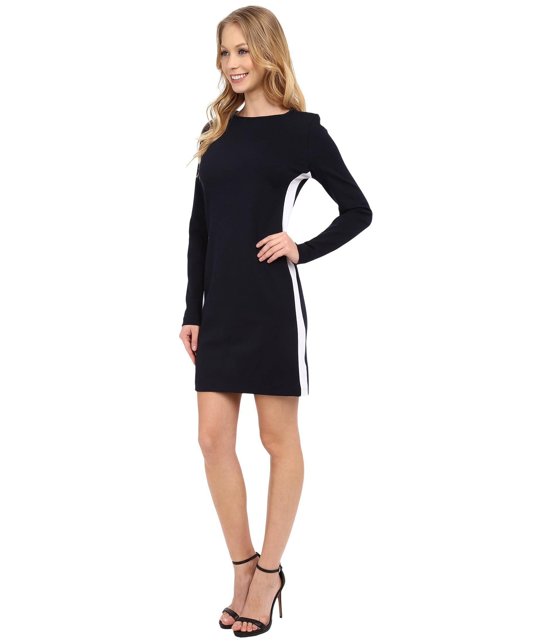 Lyst Michael Michael Kors Side Stripe Long Sleeve Dress