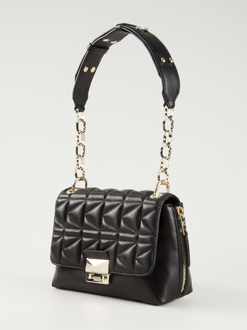 Karl Lagerfeld Small Quilted Shoulder Bag In Black Lyst