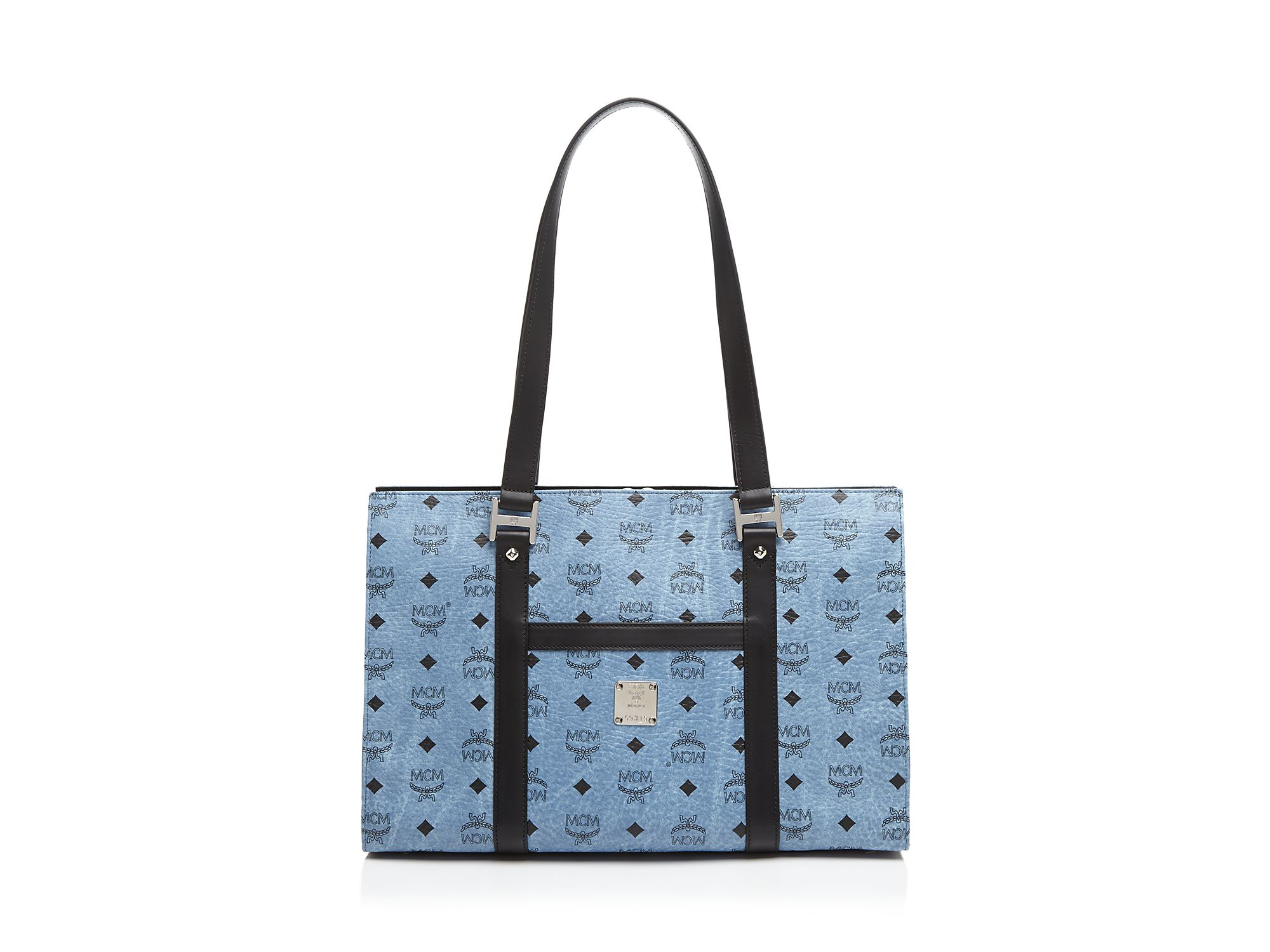 530469ec5f58 Lyst Mcm Tote Bloomingdale S Exclusive Per Medium In Blue