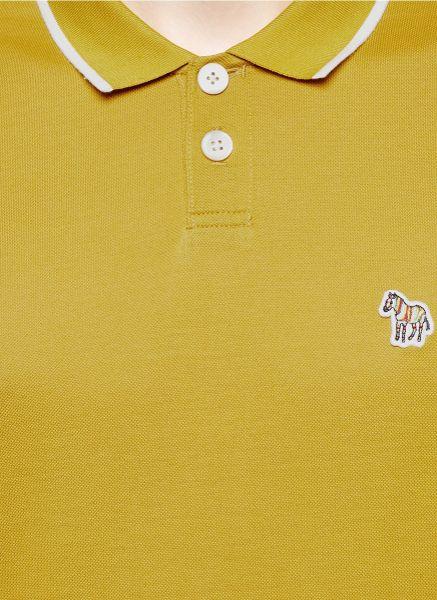 Yellow Polo Logo Logo Polo Shirt in Yellow