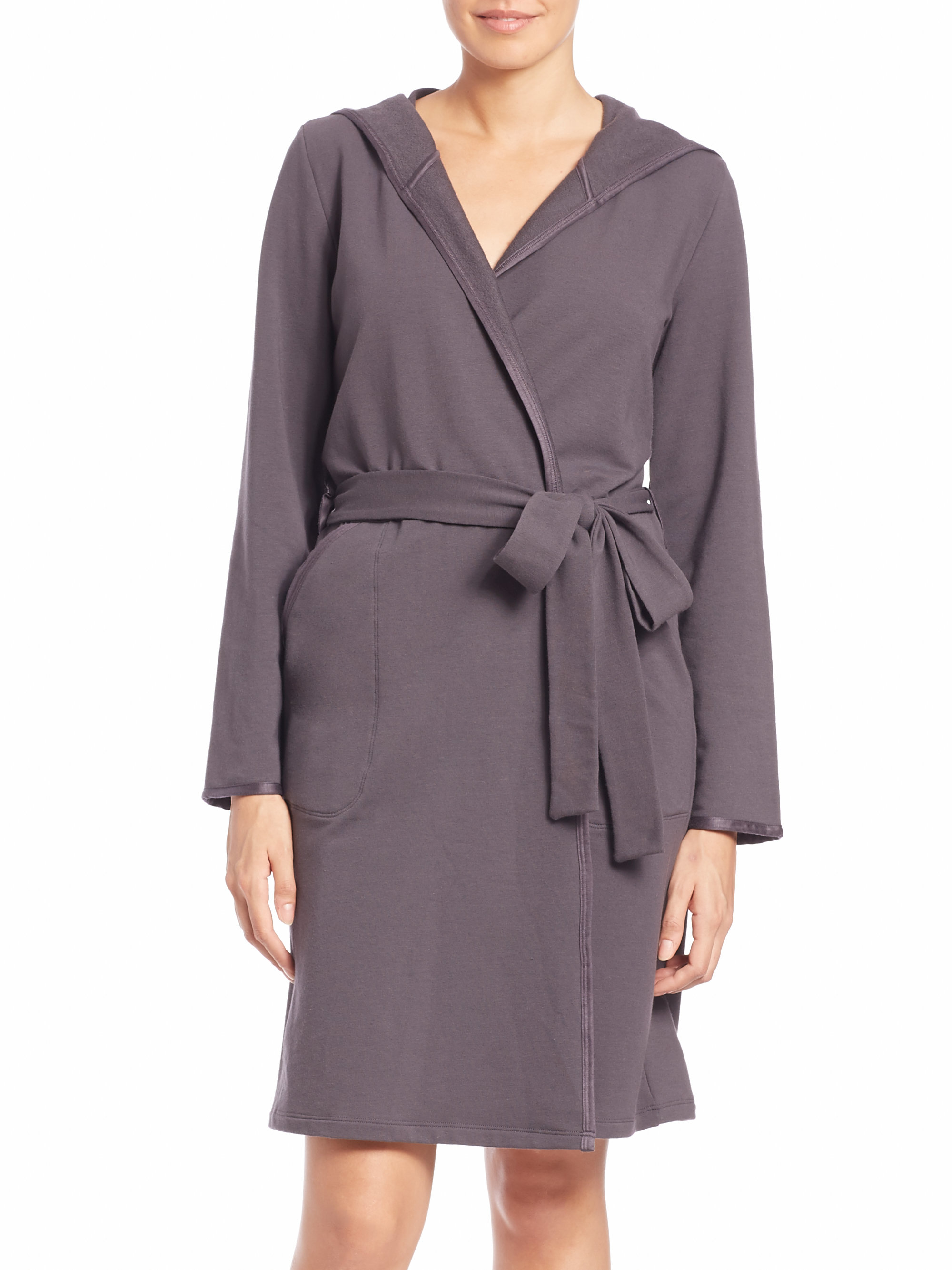 French terry robe long