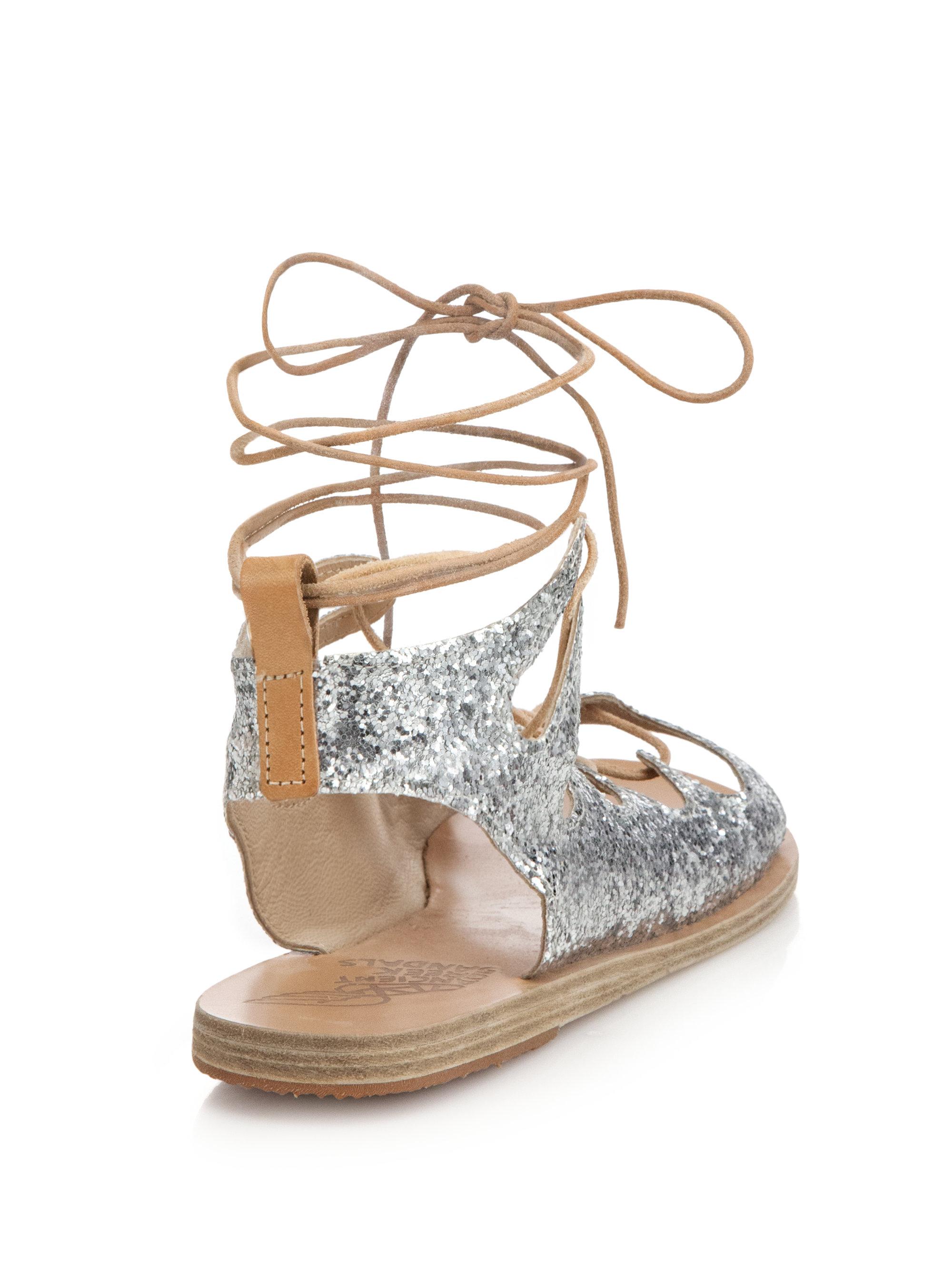 Lyst Ancient Greek Sandals Antigone Glitter Leather